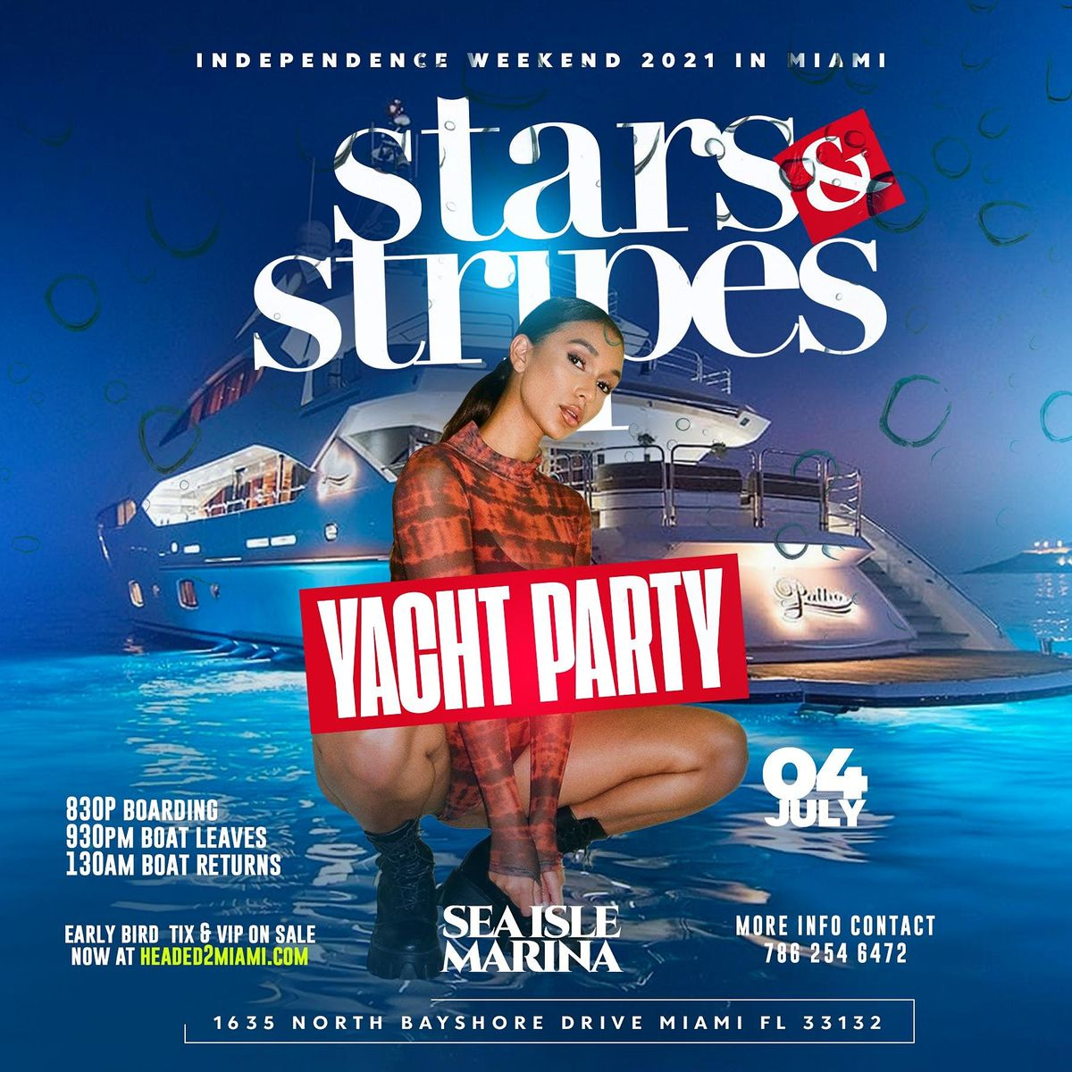 MIAMI STARS N STRIPES YACHT PARTY (Red White & Blue), 3 July | Event in Miami | AllEvents.in