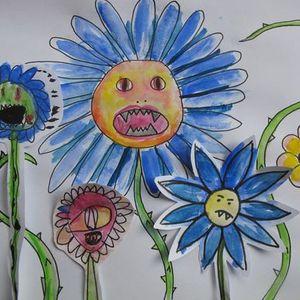 Monster flower art