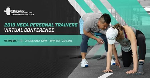 2019 NSCA Personal Trainers Virtual Conference at NSCA1885