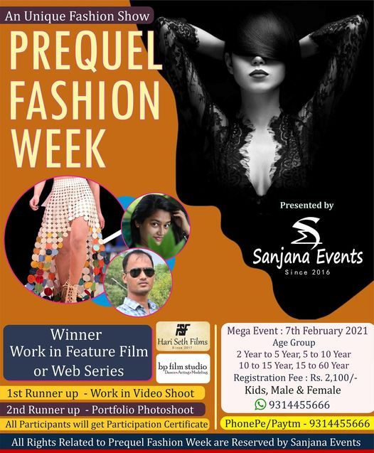 Prequel Fashion Week, 7 February   Event in Jaipur   AllEvents.in