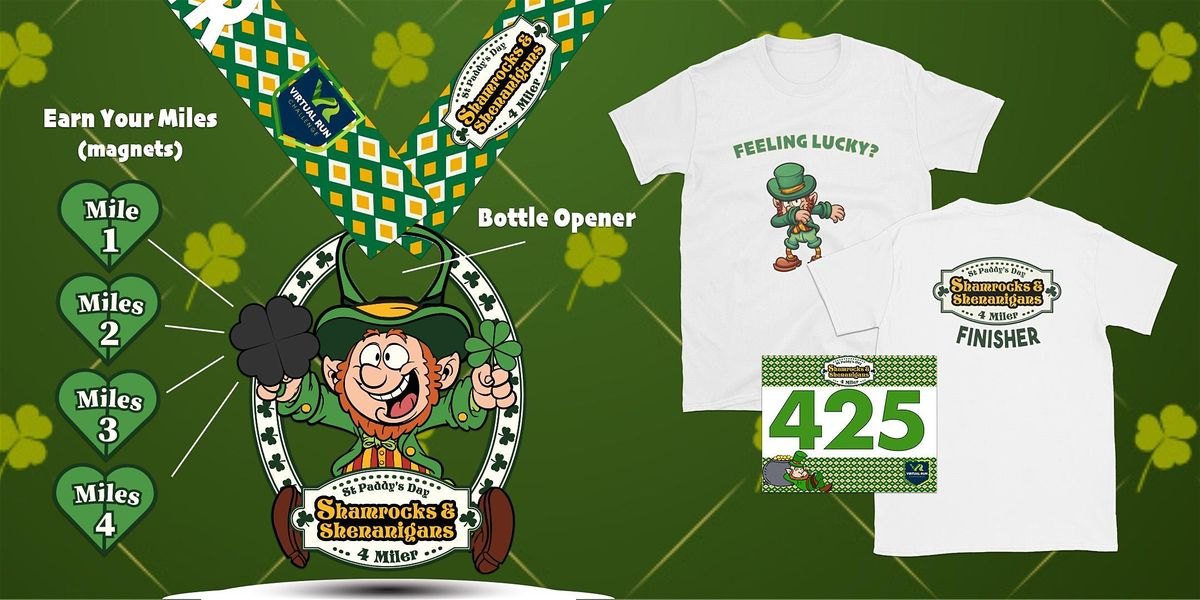 2020 Shamrocks & Shenanigans Virtual 4 Mile RunWalk - North Las Vegas
