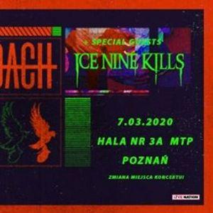 Zmiana miejsca Papa Roach & Hollywood Undead MTP 3A 7.03.2020