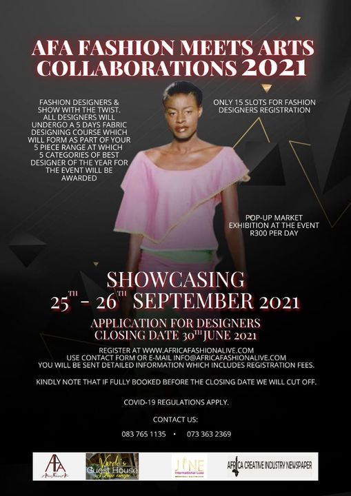 AFA FASHION MEETS ARTS COLLEBORATIONS 2021   Event in Soweto   AllEvents.in