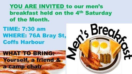 Coffs Harbour WMC Men's Breakfast, 27 March | Event in Coffs Harbour | AllEvents.in