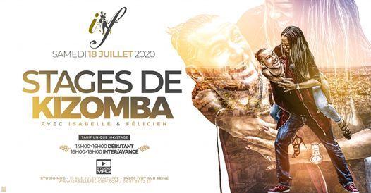 Stage de kizomba - Isabelle et Felicien - 18 juillet 2020/Paris at Isabelle  and Felicien, Ivry-sur-Seine