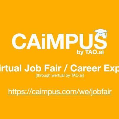 Caimpus Virtual Job FairCareer Expo College University EventWashington