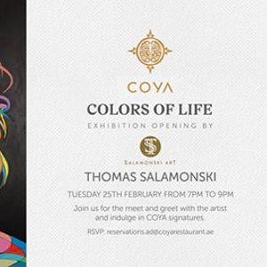 Colors Of Life art opening exhibition by Thomas Salamonski