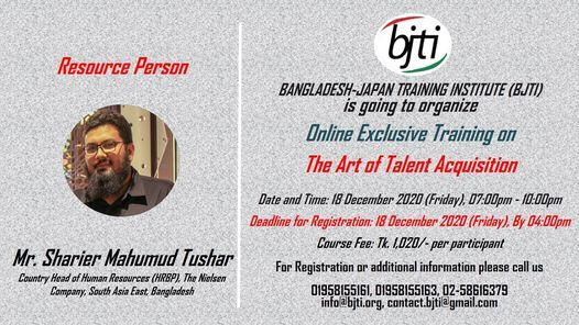The Art of Talent Acquisition, 18 December | Event in Dhaka | AllEvents.in