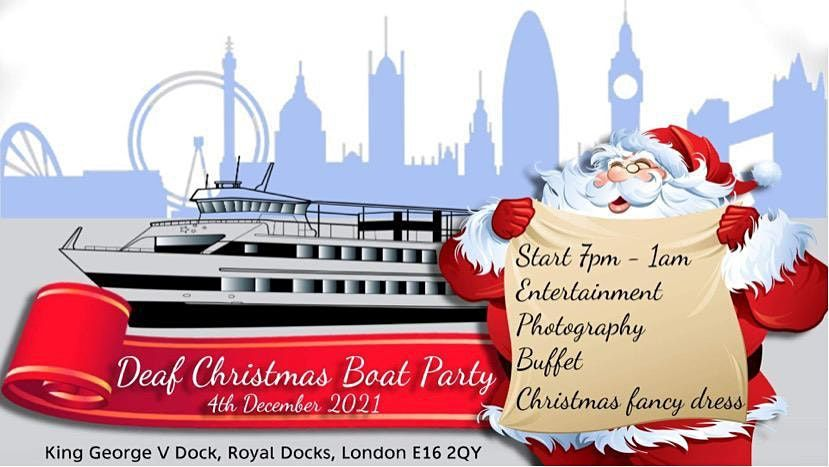 Deaf Xmas Boat Party 2021, 4 December | Event in London | AllEvents.in