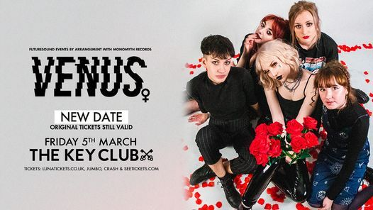New Date - Venus // Leeds, 5 March | Event in Leeds | AllEvents.in