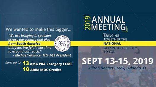 The 54th FGS Annual Meeting at Hilton Orlando Bonnet Creek