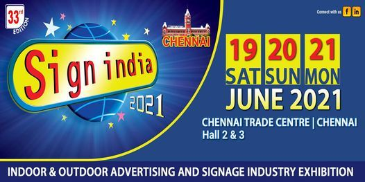 SIGN INDIA EXPO 2021 | Event in Chennai | AllEvents.in