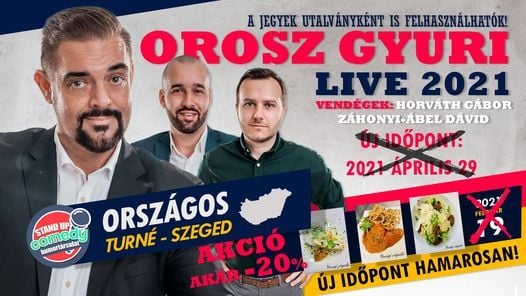 Stand up comedy LIVE akár vacsorával - Szeged, 29 April | Event in Szeged | AllEvents.in