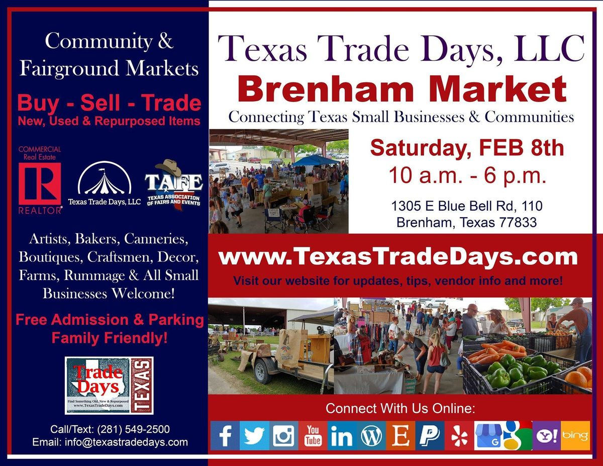 Washington County Fair 2020.Brenham Market Texas Trade Days At Washington County Fair