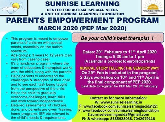 Sunrise Learning Parents Empowerment Program 2020