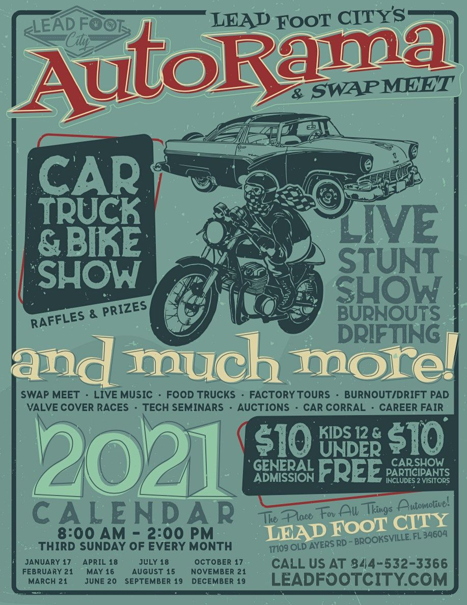 AutoRama & Swap Meet (Third Sunday, Every Month), 18 April | Event in Brooksville | AllEvents.in