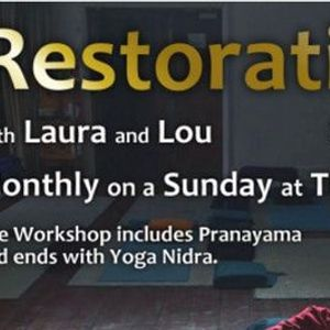 Restorative Yoga Workshop. Attend In Person or on Zoom.