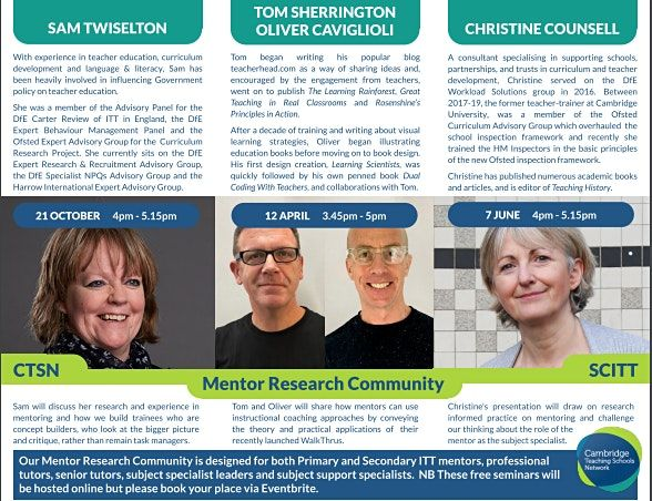 Mentor Research Community with Christine Counsell, 7 June | Online Event | AllEvents.in
