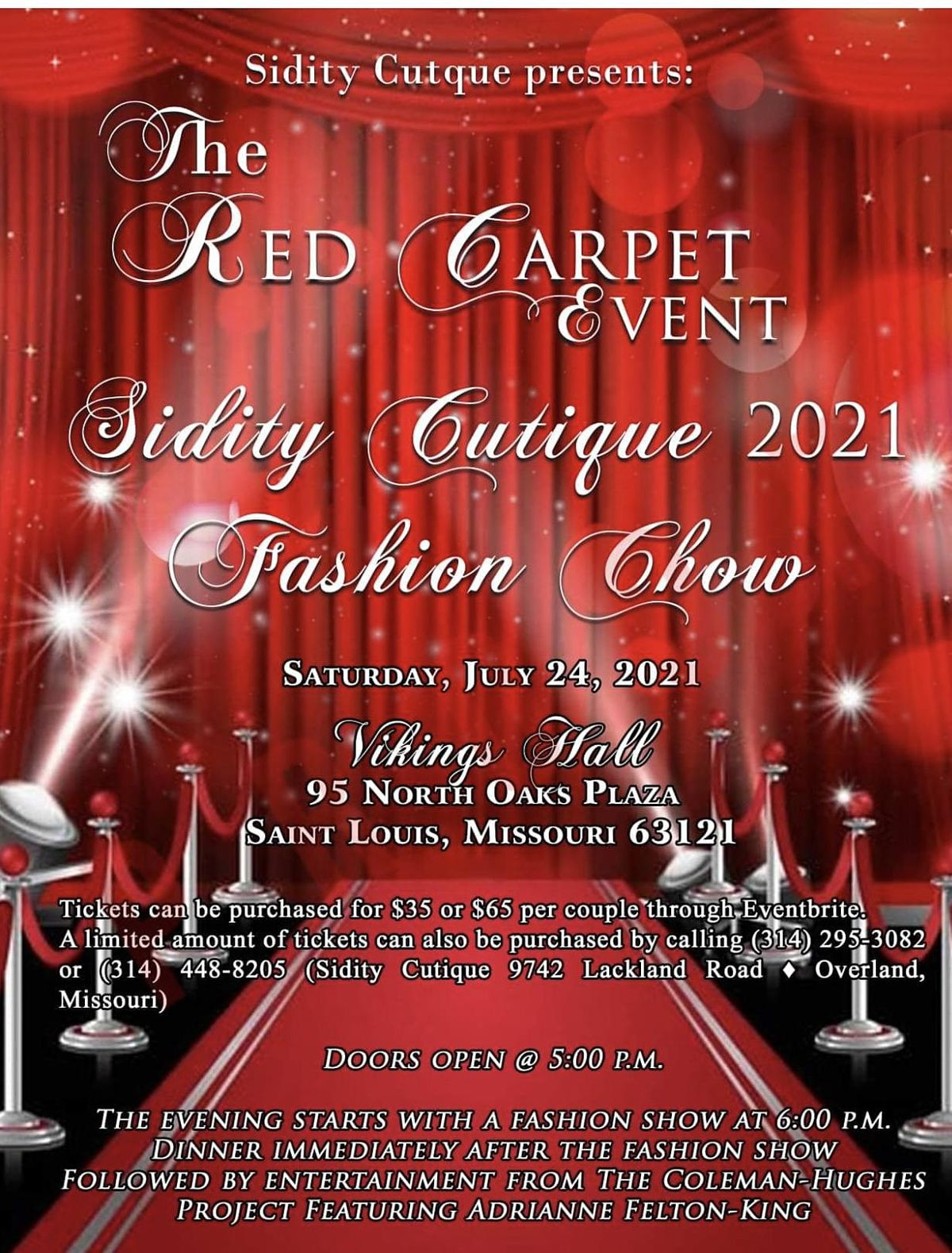 Sidity Fierce Red Carpet Event | Event in St. Louis | AllEvents.in