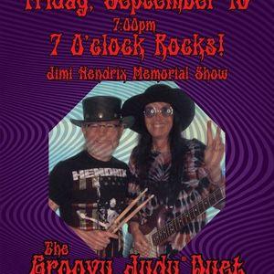 7 OClock Rocks Groovy Judy & Pete Jimi Hendrix Memorial Show
