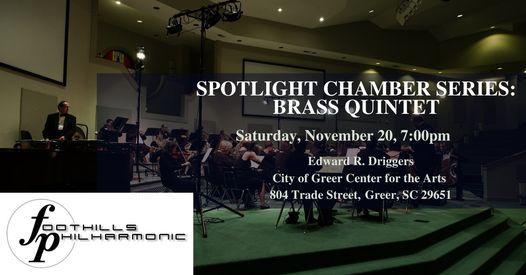 Foothills Philharmonic Brass Quintet, 20 November   Event in Greer   AllEvents.in
