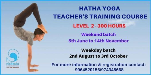 Weekday Level 2-300hrs Teacher's Training Course, 2 August   Event in Bangalore   AllEvents.in