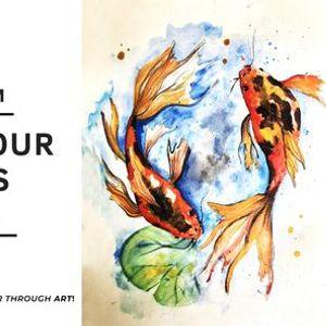 ARTNSIPS Exclusive Watercolour & Drinks  BAR50