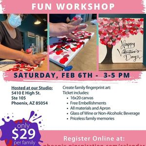 Family Tree- Valentines Fingerprint Canvas Event