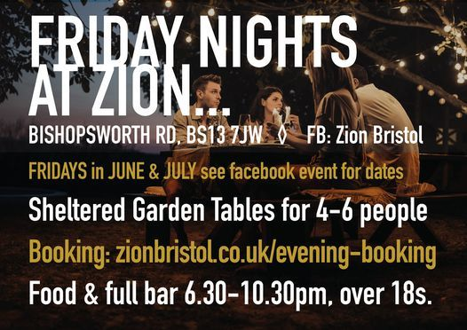 Garden Bar Nights in June/July at Zion | Event in Bristol | AllEvents.in