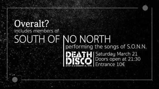 Overalt? - perform South of No North | live at Death Disco, 18 December | Event in Athens | AllEvents.in