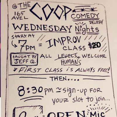 Improv Comedy Drop In Classes At The Coop