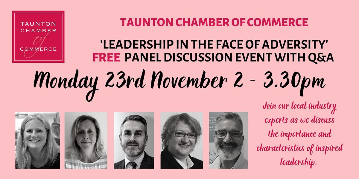 'Leadership in the Face of Adversity' - Expert Panel Discussion Event | Online Event | AllEvents.in