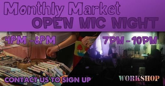 Market and Open Mic night