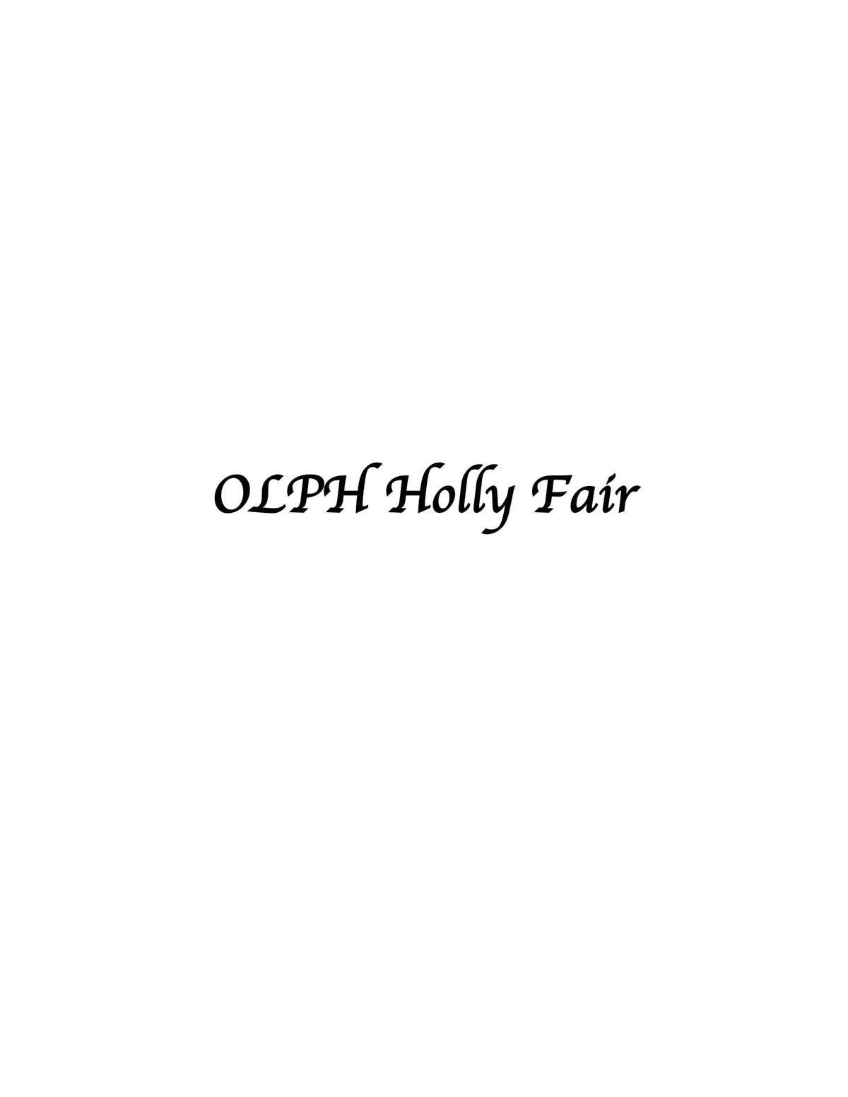 OLPH Holly Fair 2019