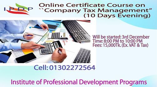 Online Certificate Course on ``Company Tax Management''  (10 Days Evening) | Event in Dhaka | AllEvents.in