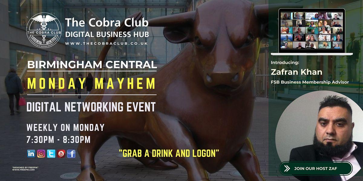 Monday Mayhem - Online Networking Event - Birmingham, West Midlands   Online Event   AllEvents.in
