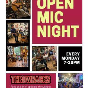 Open Mic Mondays at Throwbacks
