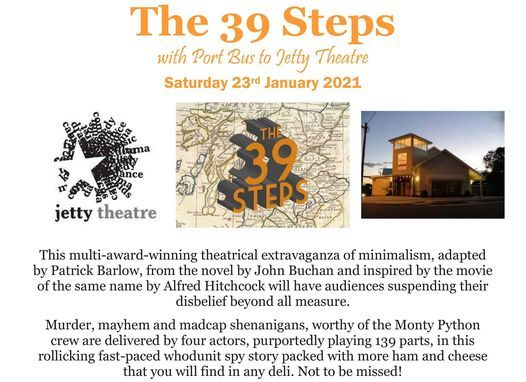 The 39 Steps with Port Bus to Jetty Theatre | Event in Coffs Harbour | AllEvents.in