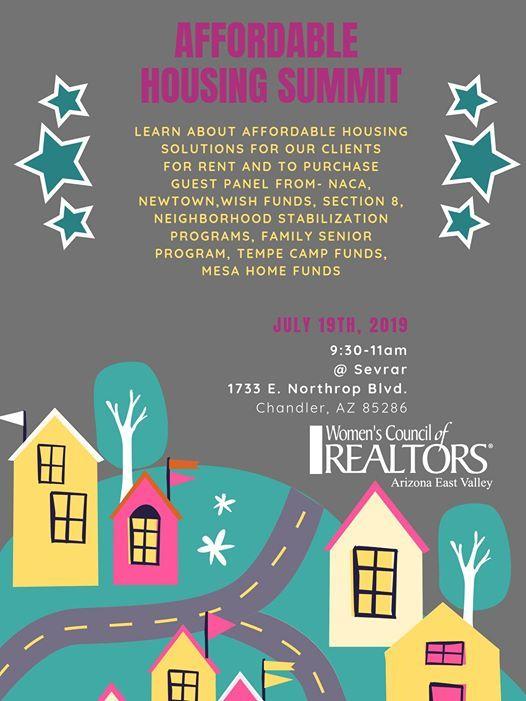 Affordable Housing Summit at Avion Center Sevrar, Chandler