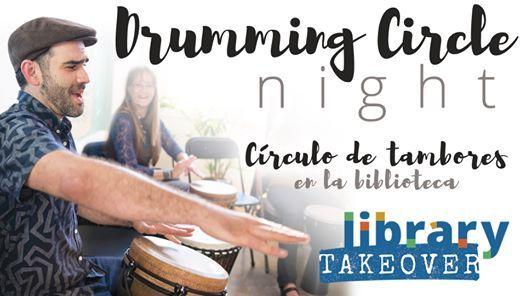 Drumming Circle Night  Crculo de tambores en la biblioteca