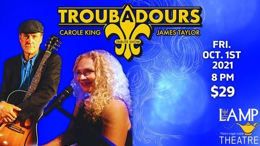 Troubadours: A Tribute to James Taylor & Carole King, 1 October   Event in Irwin   AllEvents.in