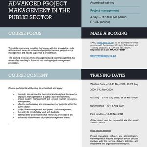 Advanced Project Management in the Public Sector
