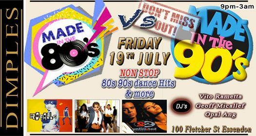 80s Vs 90s NON STOP Dance Hits at Dimples | Essendon