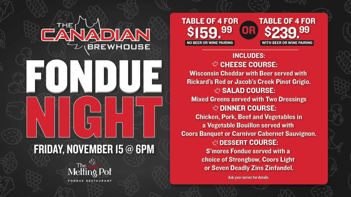 Fondue Night in Airdrie