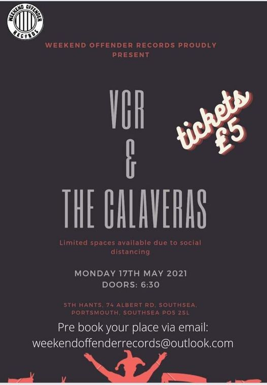 VCR and The Calaveras @ The 5th Hants, 17 May   Event in Fareham   AllEvents.in