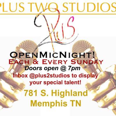Plus Two Studios Open Mic Night