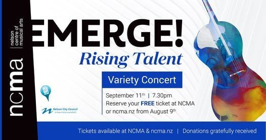 CANCELLED: EMERGE! Rising Talent, 30 October | Event in Nelson | AllEvents.in