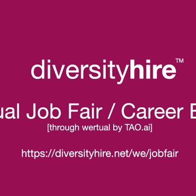 DiversityHire Virtual Job Fair  Career Expo Diversity Event  Lakeland
