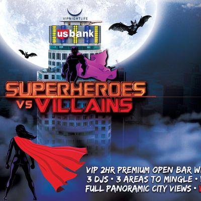 Halloween LA party -  Superheroes vs Villains Tower