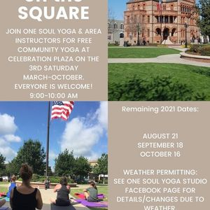 August Yoga on the Square